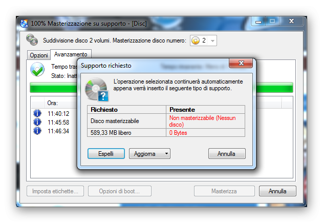 Come eseguire un backup su CD o DVD