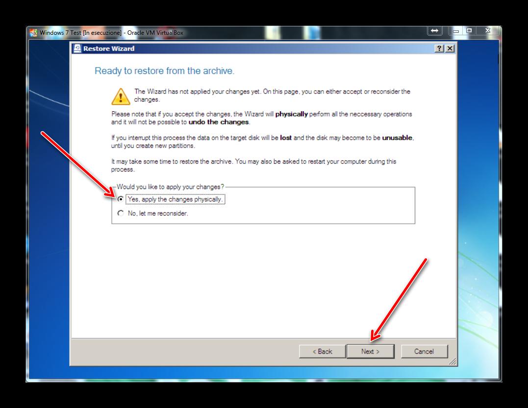 Come fare il backup di un hard disk o di una partizione