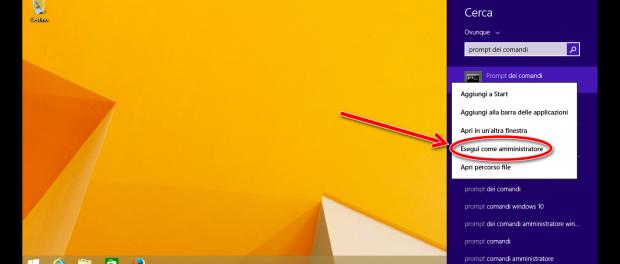 Abilitare il tasto f8 in Windows 8.1 per la modalità provvisoria