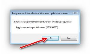Programma di installazione Windows Update autonomo 2