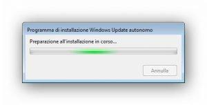 Programma di installazione Windows Update autonomo