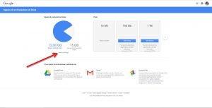 Spazio archiviazione gmail