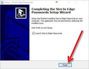 SterJo Edge password setup 6