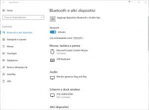 Bluetooth e altri dispositivi