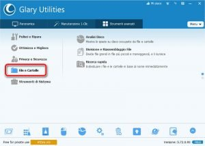 Glary Utilities 5 File e Cartelle