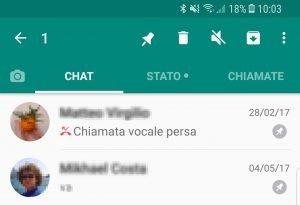 fissare in alto chat whatsapp