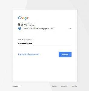 Eliminare un account Google