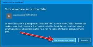 Disattivare un Account utente