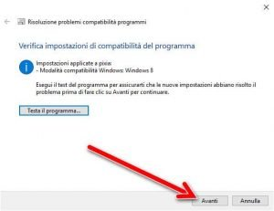 Strumento compatibilità programmi di Windows