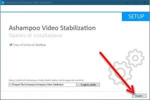 Installazione Ashampoo Video Stabilization